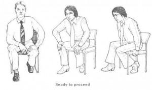 Posture des personnes prétes à se lever