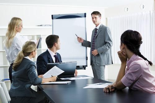 Présentations en réunion