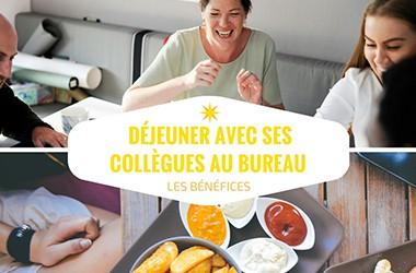 Déjeuner avec ses collègues au bureau : les bénéfices