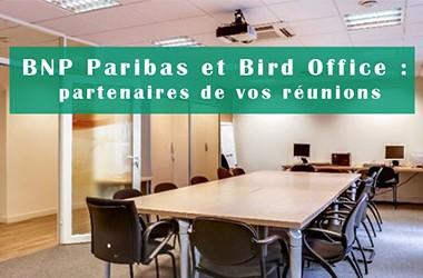 BNP Paribas et Bird Office: partenaires de vos salles de réunion