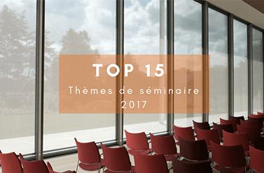 Top 15 des thèmes de séminaire d'entreprise en 2017