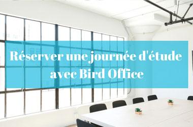 Réserver une journée d'étude avec Bird Office