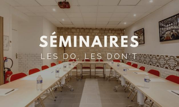 Louer une salle de séminaire : les do, les don't