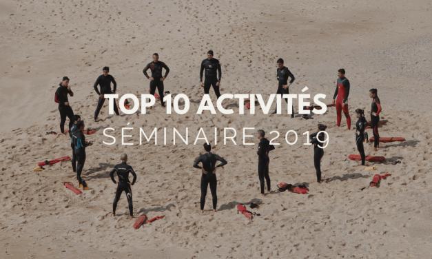 Top 10 des activités séminaire en vogue en 2019