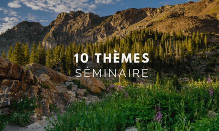 10 thèmes de séminaire du moment
