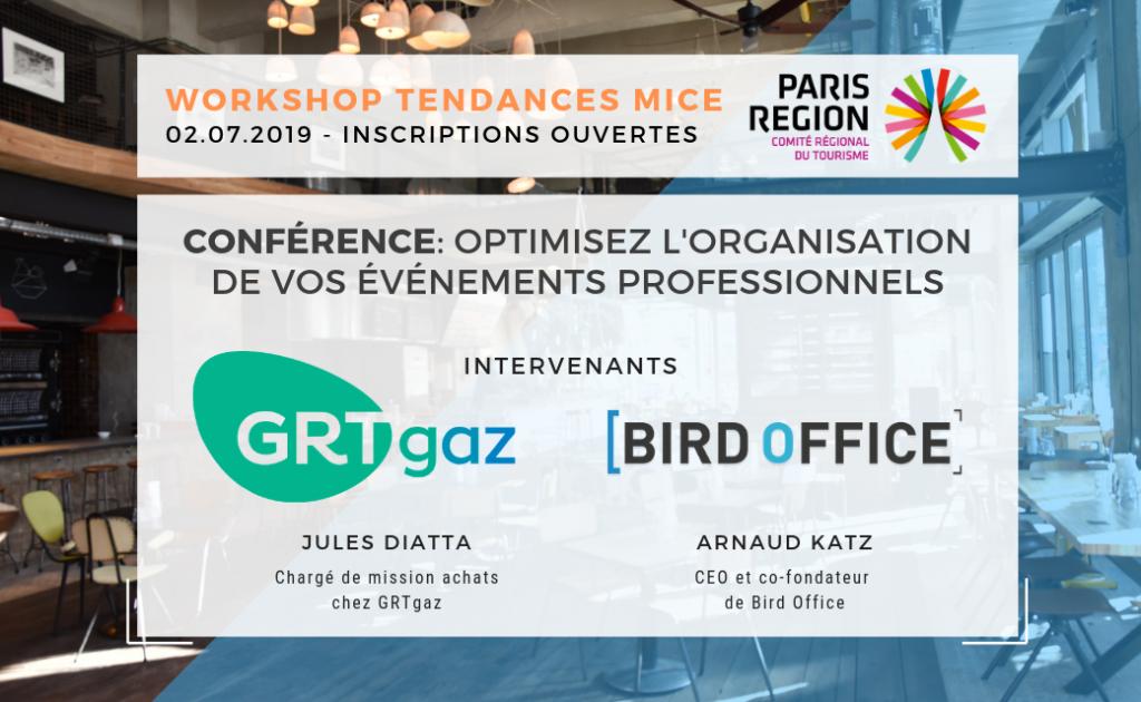 conférence tendances MICE GRTgaz et Bird Office