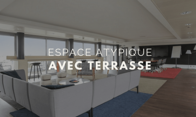 Salle avec terrasse: la vue imprenable de l'espace Secondesk