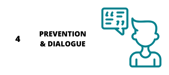 Consignes à respecter en préventions et dialogue
